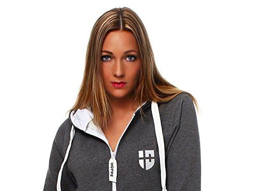 Hoppe Damen Jumpsuit Jogger Einteiler Jogging Anzug Trainingsanzug Overall (Grau) - 4