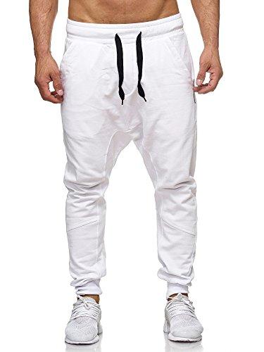 Tazzio Herren Jogginghose IM Haremstil P-501, XL, Weiß
