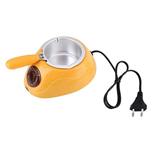 STKJ Elektrischer Pralinenschmelztiegel, Praktisches Küchenwerkzeug Der Fondantmaschine Mit Mini-DIY-Formsatztopf,Gelb