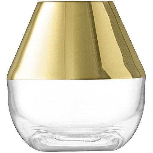 LSA International Space Vase 10cm Gold, Klar verziert