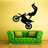 ASFGA Etiqueta de Vinilo de Pared de Deportes Extremos Calcomanía de Dormitorio Tribal Race Bike Motocross Club Cool Boys Bedroom 112x178cm