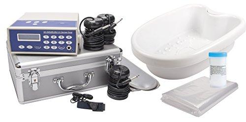 chi-enterprise Ion Cleanser Galvano-Set mit Fuß-Wanne I Hydro-galvanisches Therapiegerät im Alu-Koffer I Elektrolyse-Gerät Komplett-Set für Fußbad Handbad Ganzkörper-Bad I Hüftgurt Infrarot-Technik