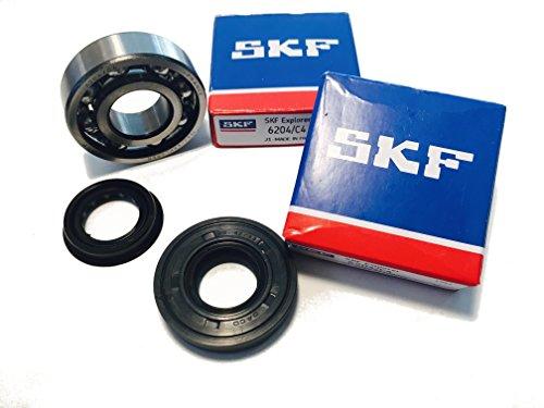 SKF C4 Juego de rodamientos de cigüeñal con sellos de eje Jaula metálica de alta calidad Minarelli horizontal / vertical Yamaha Aerox