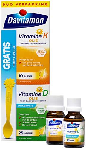 Davitamon Baby Suikervrij - 1ste vitamines - vitamine D en K - speciaal is ontwikkeld voor baby's die nog borstvoeding krijgen - 35 ml