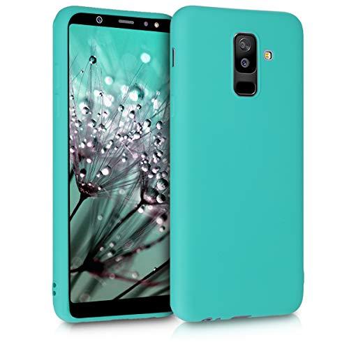 kwmobile Funda Compatible con Samsung Galaxy A6+/A6 Plus (2018) - Carcasa de TPU Silicona - Protector Trasero en Turquesa neón