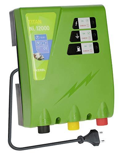 Kerbl Weidezaungerät Titan NI 12000, 12.0 J Weidezaun Gerät Stromversorgung Netzgerät 230V