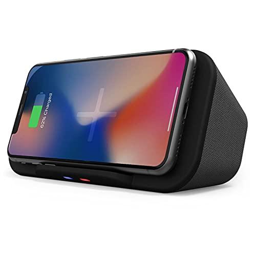 Cassa Bluetooth Portatile con Caricatore Wireless, Supporto Smartphone Dock, Powerbank, Altoparlante Stereo da 6W Docking Station per iPhone 11, XS, X, Samsung S10, S9 e Altro