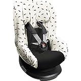 Dooky Black Feather Funda De Asiento Infantil (Ajuste Universal Para Muchos Modelos Populares, Grupo De Edad 1+ 9-18 Kg, Sistema De Cinturón De 3 Y 5 Puntos), Gris, White