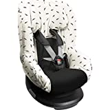 Dooky Black Feather Funda de asiento infantil (ajuste univer