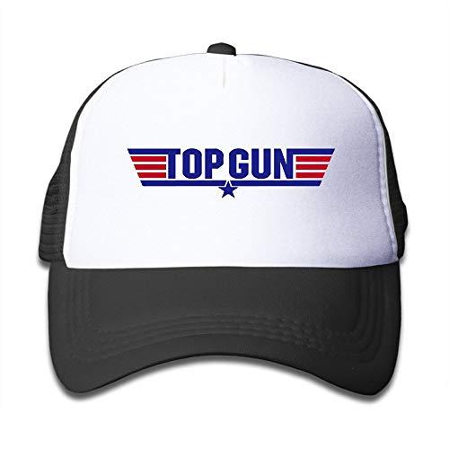 Youaini Macthy Top Gun Logo Boy's Mesh Snapback Hat Cap Black