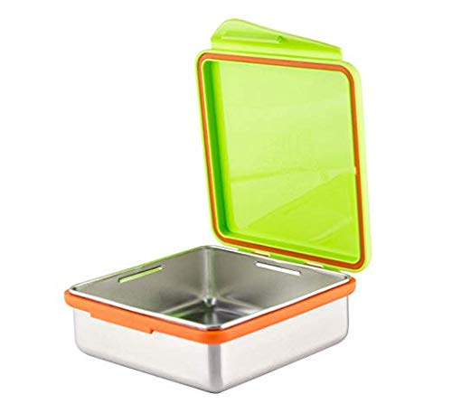 Kid Basix by New Wave Safe Snacker–Stainless Steel Lunchbox for Food Storage