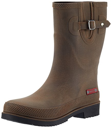 DOGGO Damen Lotte Brushed Gummistiefel, (Braun), 41 EU