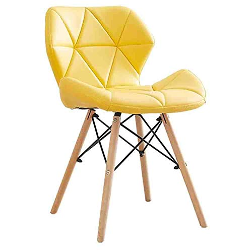N / A Chairs Reception with Pillow Soft from Folder to Office, 1 Piece Without Leather Arm Chair Kitchen, Dining Chairs,Yellow,38x50x73cm (15x20x29inch)