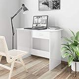 <span class='highlight'><span class='highlight'>SKM</span></span> Desk High Gloss White 100x50x76 cm Chipboard-0555