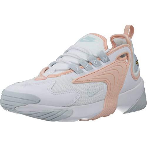 Nike Womens WMNS Zoom 2K Running Shoe, White/Aura-Washed Coral, 40.5 EU