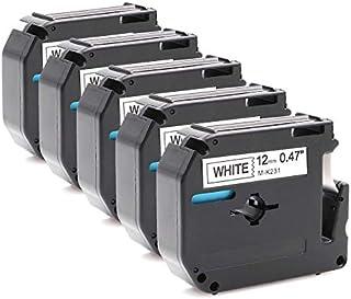Kit 5 Fita Rotulador Brother Compativel M231 Mk 231 Mk231 Pt-80 PT80 12mm