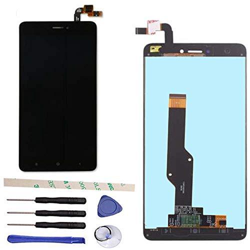Draxlgon Reparación y reemplazo Pantalla LCD Pantalla táctil digitalizador Asamblea para Xiaomi Redmi Note 4 Global Version Qualcomm Snapdragon 625 / Redmi Note 4X Negro