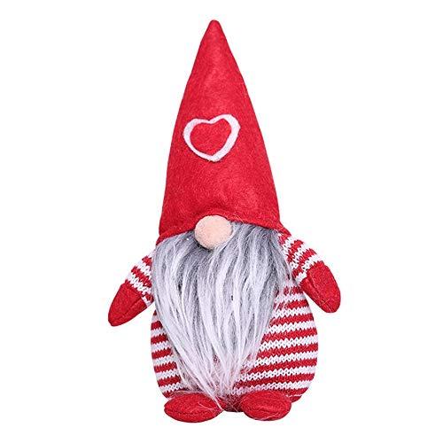 PETUNIA Decoración navideña Gorra de Amor Postura de pie sin Rostro diseño de Escena de muñeca decoración del hogar decoración decoración de la habitación Rojo