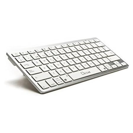 L-Link LL-KB-6110 - Teclado con Bluetooth, Color Blanco y Plata…