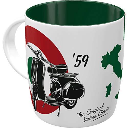 Nostalgic-Art Retro Kaffee-Becher - Vespa - The Italian Classic, Große Lizenz-Tasse mit Vespa-Motiv, Vintage Geschenk für Vespa Roller Fans, 330 ml