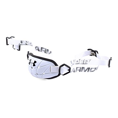 Under Armour Boys' Gameday Armour Chin Strap, White (100)/Black, One Size