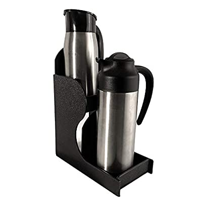 "BP-2-CARAFE by PPM: Canister Creamer Carafe Stand 5"" x 9.25"" x 12"" holds two (2) carafes made of sturdy ABS plastic"