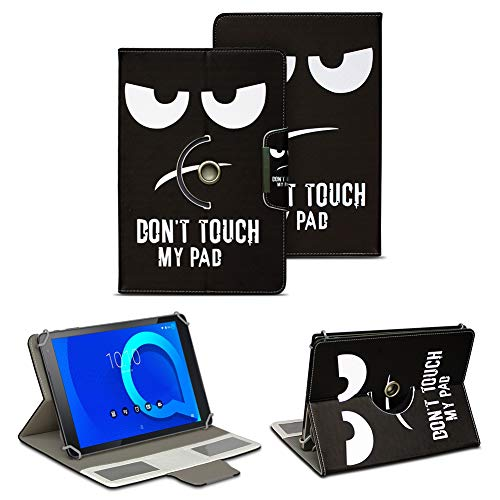 NAUC Alcatel 1T 10 Tablet Tasche Hülle Schutzhülle Hülle Schutz Cover 10.1 Cover 360° Drehbar, Farbe:Motive 2