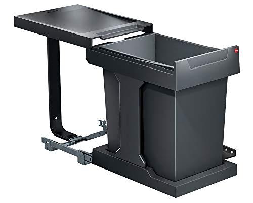 Hailo AS Solo 20 Automatik dunkelgrau für Schränke ab 400 mm Breite mit Drehtür