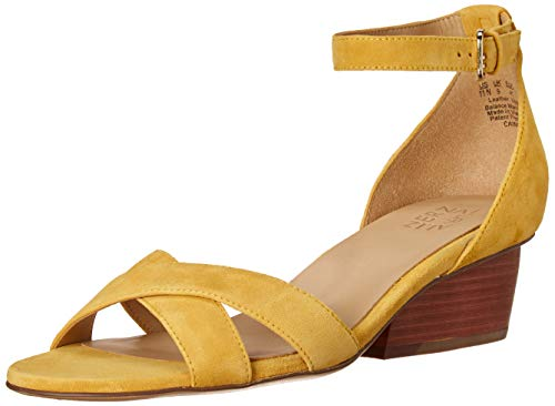 Naturalizer Womens Caine Yellow Suede Ankle Straps 5.5 M