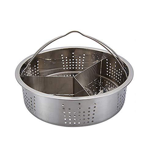 FSLLOVE FANGSHUILIN Vapor vaporizador Cesta vaporizador económico Conveniente Acero Inoxidable cocinar vajilla Huevo Cocina Vegetales Accesorios