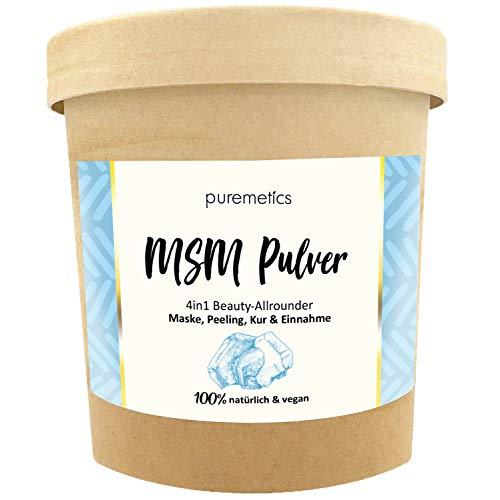 puremetics Zero Waste MSM Pulver (200g) Pflanzliches Schwefelpulver | 100{01d9d13772ed1482a82b1e80c3e8cca762a909c13b061bae903e40bcd7220f0e} natürlich, vegan & plastikfrei | Für Haut, Haar, Immunsystem & als Superfood
