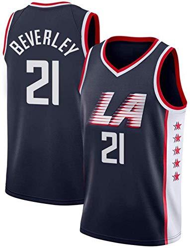 ZMIN Jersey de Mujeres para Hombres - NBA Clipper 21# Beverley Jerseys Transpirable Baloncesto Baloncesto Jersey,XL 180~185cm