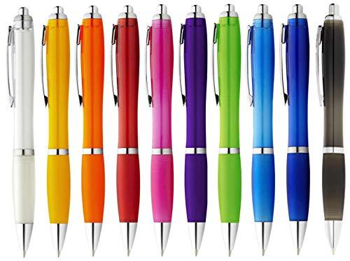 StillRich Industries Ergonomischer Kugelschreiber 50 Stück | Premium Kulli sorgt für einfaches & weiches Schreiben | Blauschreibender Kugelschreiber als optischer Hingucker (Bunt 50)