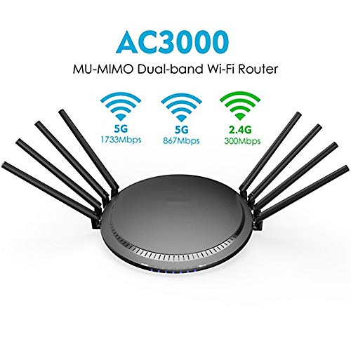 DZSF AC3000 Tri-Band Wireless Router WiFi 2.4G + 5 GHz con TOUCHLINK Gigabit WAN/LAN Wi-Fi Inteligente Repetidor De Punto De Acceso/USB 3.0