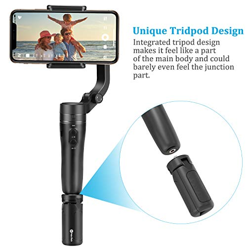 Feiyu VLOG Pocket Foldable Handheld Gimbal Stabilizer Pocket-Size 3-Axis with One Key Orientation Toggle Face Tracking for iPhone Smartphone