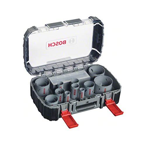 Bosch Professional 17tlg. Lochsägen Set HSS Bimetall für Standardadapter (für Holz, Metall und Kunststoff, Zubehör Bohrschrauber)