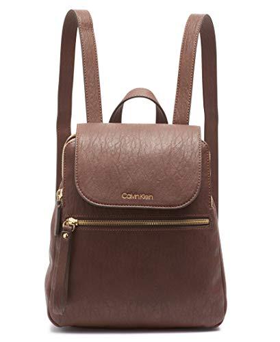 Calvin Klein Elaine Bubble Lamb Novelty Key Item Flap Backpack, Walnut