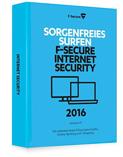 F-Secure Internet Security 2016 - 1 Jahr / 1 PC