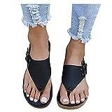 Dasongff Sandalias planas para mujer, sandalias informales, sandalias de cuña para verano, cómodas sandalias abiertas, sandalias de playa, tiempo libre, transpirables, chanclas para el tiempo libre