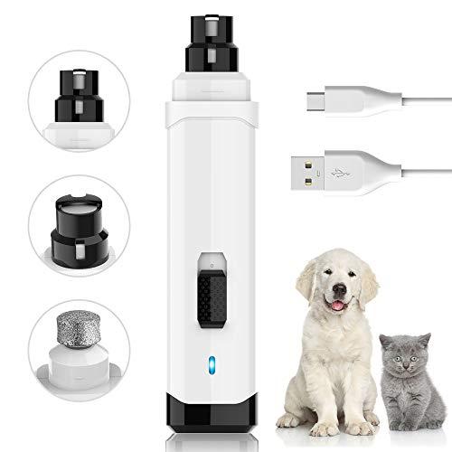 Krallenschleifer für Hunde, VINSIC Wiederaufladbarer Nagelschleifer für Haustiere - Pfotenpflege für kleine/mittlere/schwere Hunde & Katzen