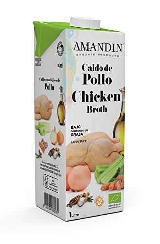 AMANDIN Caldo de Pollo Ecológico, 1000 ml