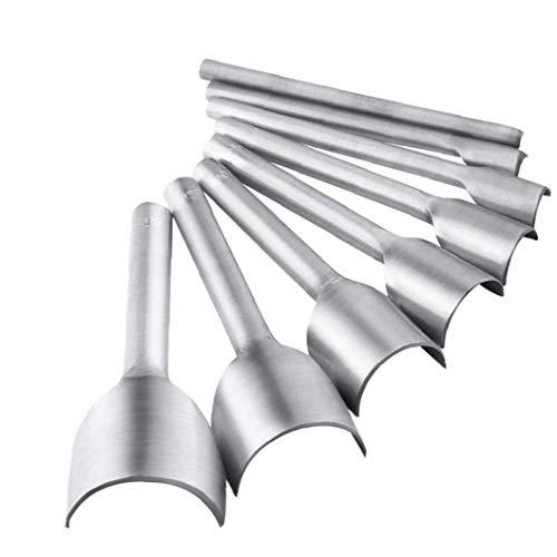 Lederhandarbeitsprodukte Werkzeug Halbrundschneider Schlags Set 5-40 mm für Crafting-Bügel-Gurt-DIY Handarbeit Projekt 8 Stk
