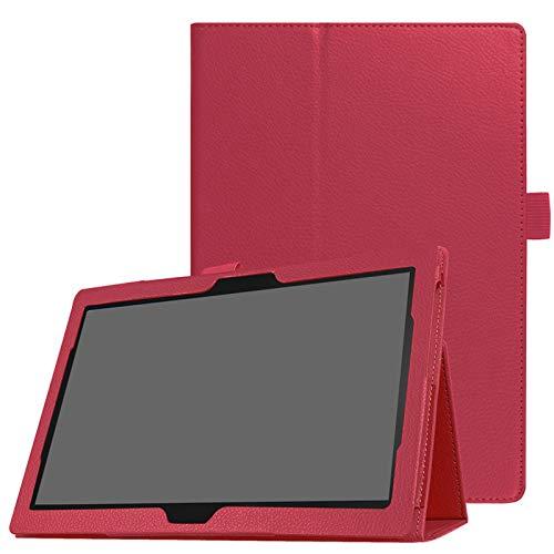 Lobwerk Hülle für Lenovo Tab M10/Tab P10 TB-X605F/TB-X705F 10.1 Zoll Slim Hülle Etui mit Stand Funktion Rot