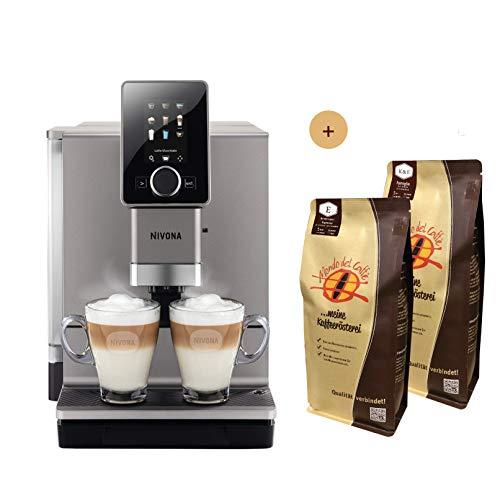 Nivona Kaffeevollautomat CafeRomatica NICR 930 Aktionspaket mit 2 Packungen à 1 kg Spitzenkaffee von Mondo del Caffè (ganze Bohne)