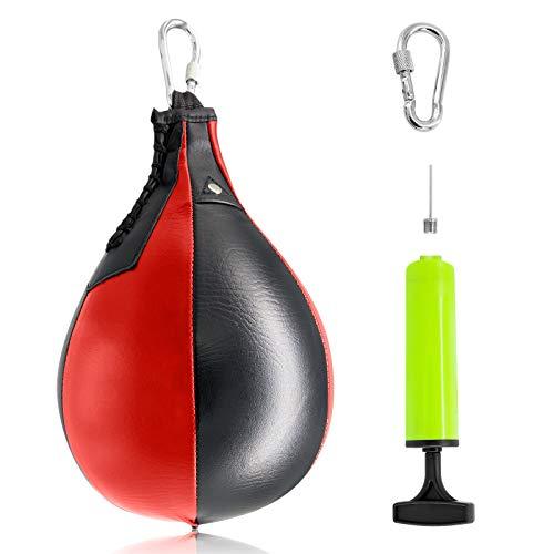 Yibang - Pelota de Boxeo para Boxeo, Artes Marciales Mixtas, Muay tailandeses o Deportes de Lucha - PU y Cuero Genuino