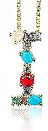 Aluyouqi Co.,ltd Collar Collar Collar I - Exquisito Colgante De Collar con Letra Inicial del Alfabeto para Mujer con Nombre Accesorio De Joyería Regalo para Novia