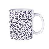 IUBBKI moderno dipinto a mano leopardo viola acquerello all'aperto 311,8 ml divertente sTea tazze & caffè tazze Inspirational s and sarcasm