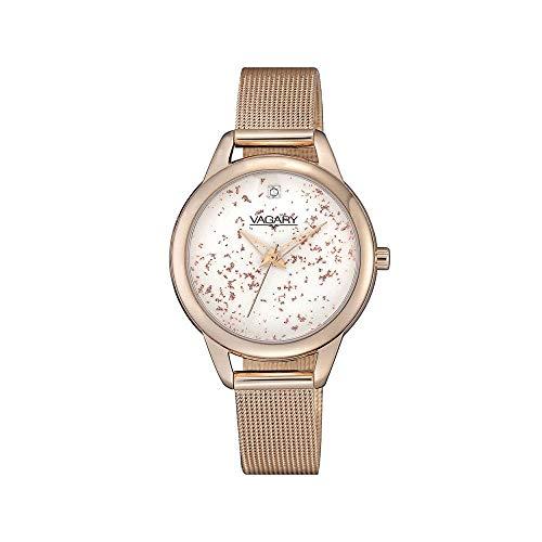 VAGARY Uhr-Damen-Strick-Mailand vergoldet IK9-026-11