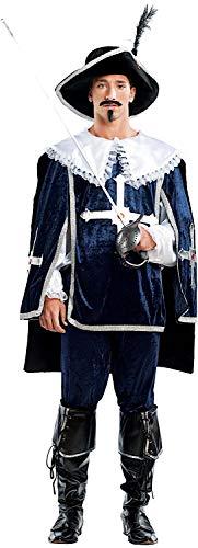 VENEZIANO Costume di Carnevale da Dartagnan Vestito per Uomo Adulti Travestimento Halloween Cosplay Festa Party 4459 Taglia M