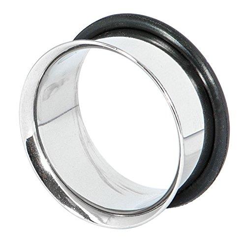 Dilatador en forma de O para la oreja, de 20 mm, ideal para el lóbulo, túnel corporal, guía de tamaños incluida de TDi Jewellery (idioma español no garantizado)